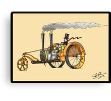 1916 HAPPY FARMER STEAMPUNK TRACTOR Canvas Print