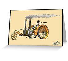 1916 HAPPY FARMER STEAMPUNK TRACTOR Greeting Card