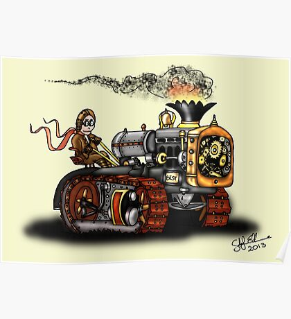 Steampunk Best Tractor 1923 Poster