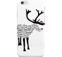 Rudolph Typography iPhone Case/Skin