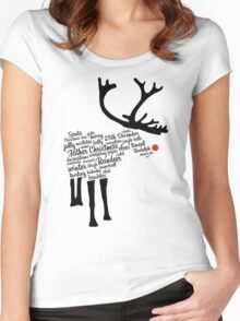 Rudolph Typography Women's Fitted Scoop T-Shirt