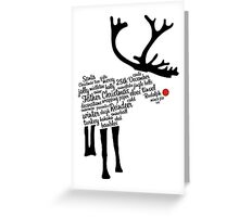 Rudolph Typography Greeting Card