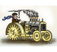 Steampunk Tractor Photographic Print