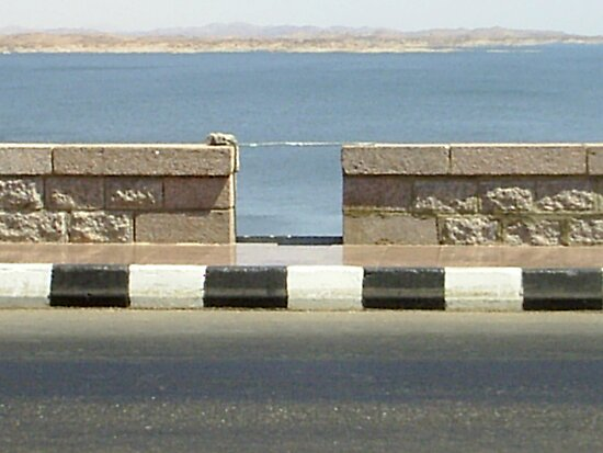 On Top of the High Dam Aswan  by jeanemm