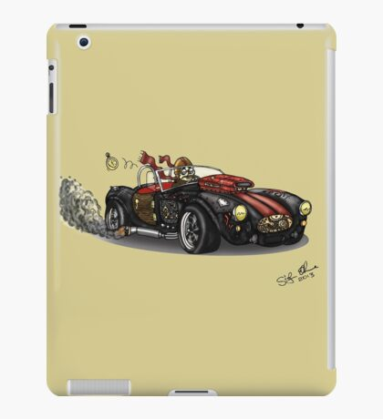 Steampunk Cobra (Green) iPad Case/Skin