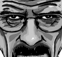 Walter White - Heisenberg - Breaking Bad- Black and White Sticker