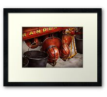 Fireman - Hats - I volunteered for this  Framed Print