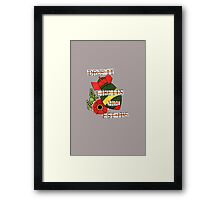 Bomb and Rose Tattoo Flash Framed Print