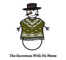 The Snowman With No Name Photographic Print