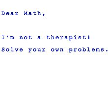 Dear Math by David Geoffrey Gosling (Dave Gosling)