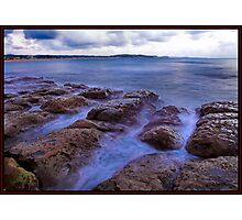 Dawn by the rocks Photographic Print