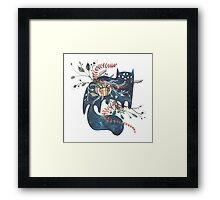 Bane - Feline Terrarium Framed Print