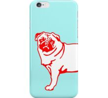 Pug red white iPhone Case/Skin