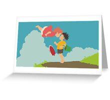 Ponyo Greeting Card