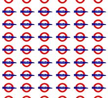 London Underground painted logo by J Doe