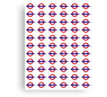 London Underground painted logo Canvas Print