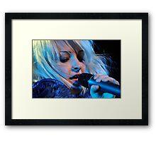 Kate Miller-Heidke - in Blue Framed Print