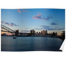 Morning Lights - Sydney Harbour Poster