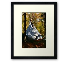 Hidden Tipi Framed Print