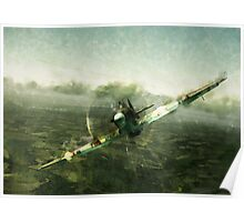 Fantastic World War 2 Hurricane Print / Hurricane in Battle WW2 , Spitfire Battle of Britain Poster