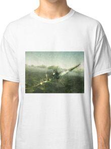 Fantastic World War 2 Hurricane Print / Hurricane in Battle WW2 , Spitfire Battle of Britain Classic T-Shirt