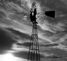 Black And White Windmill by amandameans