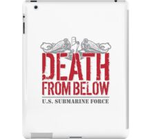 Awesome 'Death from Below' U.S. Submarine Force Red and Gray T-Shirt iPad Case/Skin