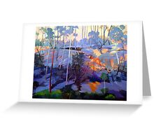 Late afternoon rocks Greeting Card