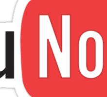 You Noob - You Tube Parody Sticker