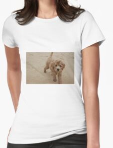 Sandy Pup Womens Fitted T-Shirt