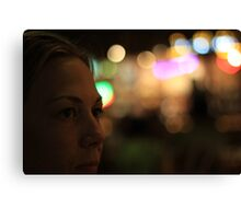 Deb at Night Canvas Print