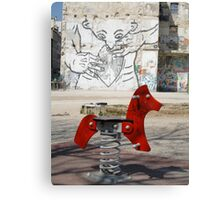 Introspective Grafitti, Marseilles, France 2012 Canvas Print