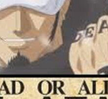 trafalgar law wanted poster Sticker