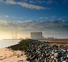 Sunset at the North Gare by Michael Stubbs