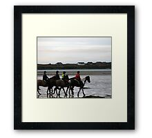 Riding with friends Framed Print