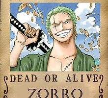 Zoro Wanted Poster by PackieK