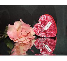 Heart & Rose Photographic Print