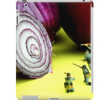 Military Training With Red Onion iPad Case/Skin