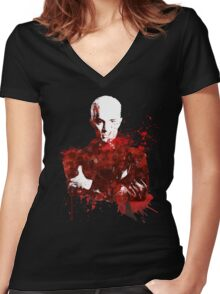 Splatter Spike Women's Fitted V-Neck T-Shirt