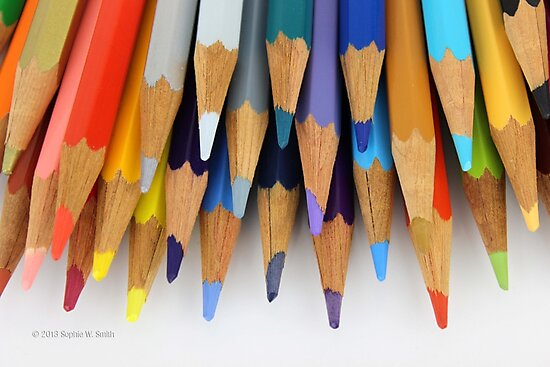 Caran D'Ache Colored Pencils by © Sophie W. Smith