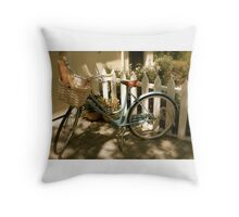 French Bicycle Throw Pillow