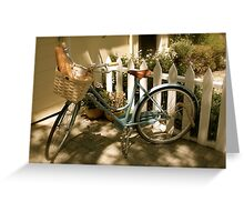 French Bicycle Greeting Card