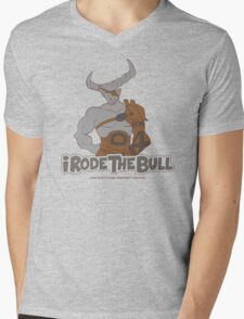 Riding the Bull Mens V-Neck T-Shirt