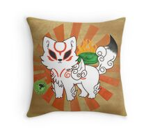 Chibi Ameterasu Throw Pillow