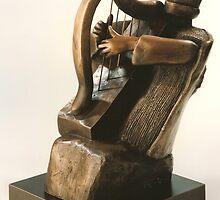 King David Tehillim Harp by Sarah  Levinson