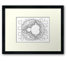 Traveling Salesman Mandelbrot Framed Print