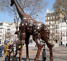 Giraffe Sculptures, Marseilles, France 2012 by muz2142