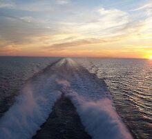 Lake Michigan Ferry Ride Sunset by SandoPhotos