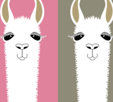 LLAMAS FOUR Sticker
