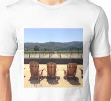 Wine Sipping and Sitting Unisex T-Shirt